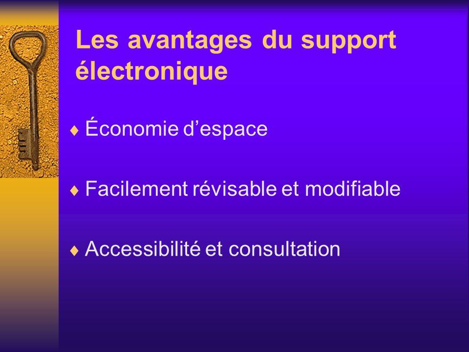 Les avantages du support électronique