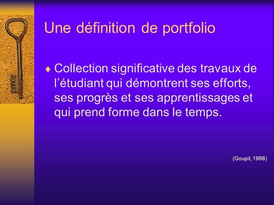 Une définition de portfolio
