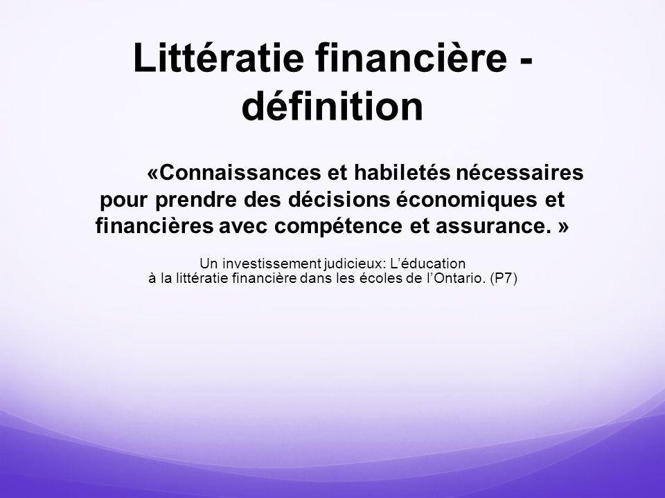 Littératie financière - définition
