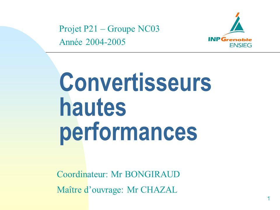 Convertisseurs hautes performances