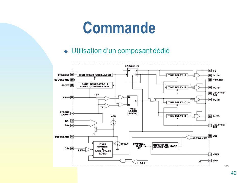 Commande Utilisation d'un composant dédié