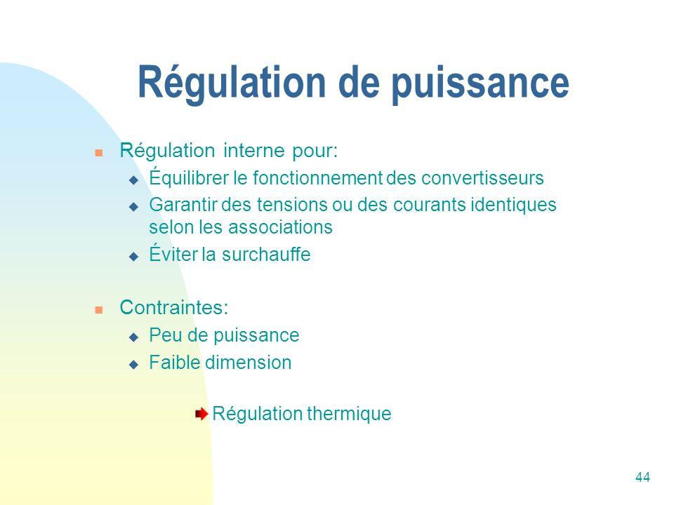 Régulation de puissance