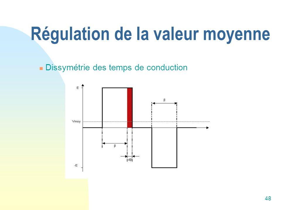 Régulation de la valeur moyenne