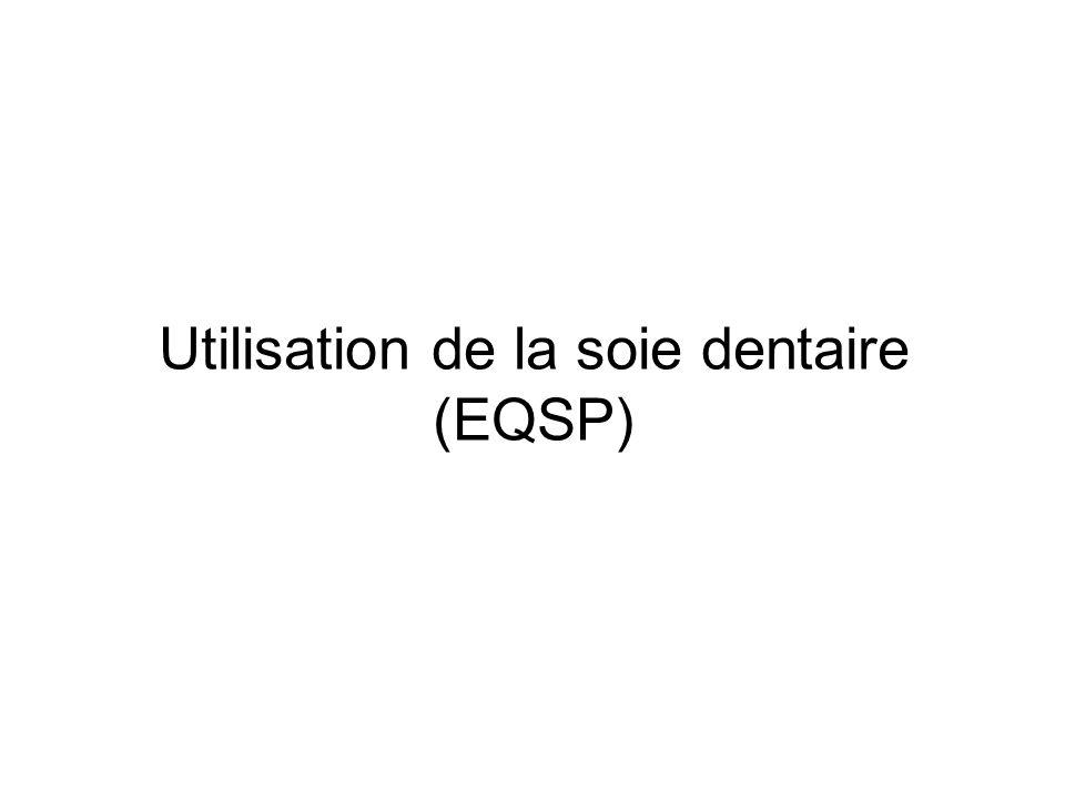 Utilisation de la soie dentaire (EQSP)