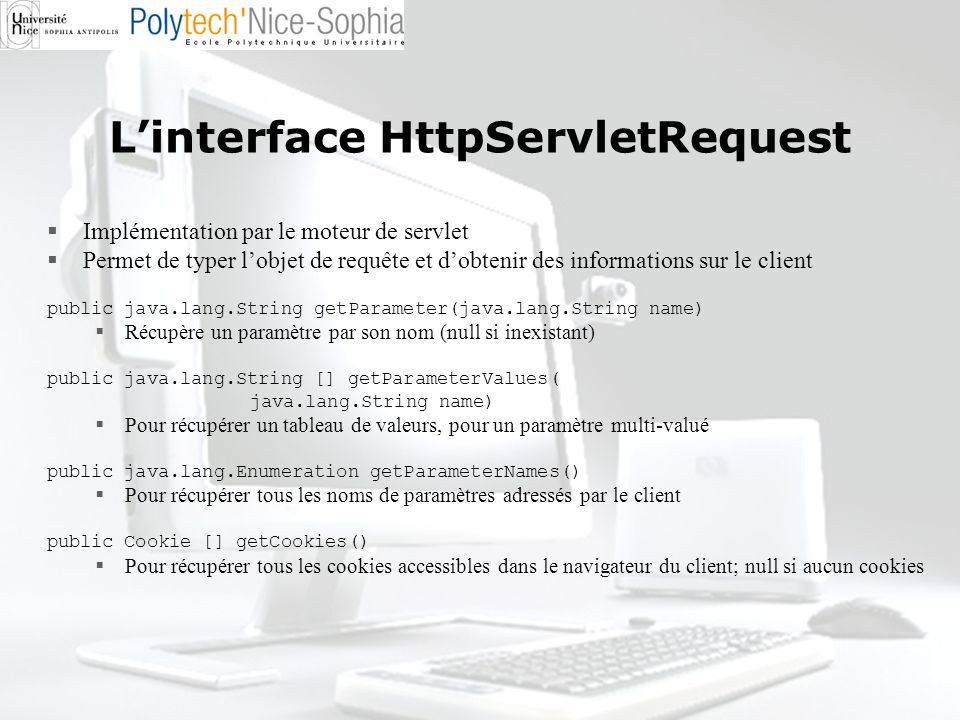 L'interface HttpServletRequest