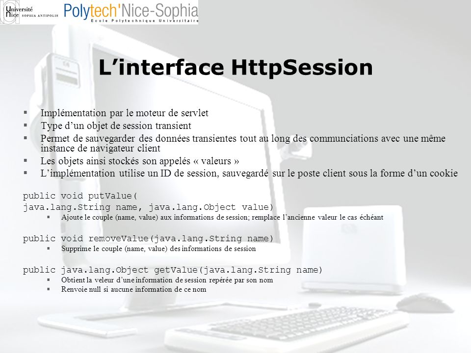 L'interface HttpSession