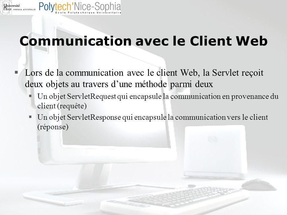 Communication avec le Client Web