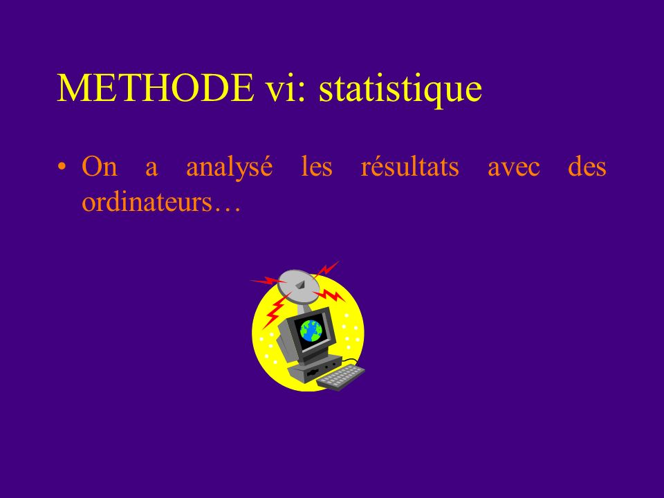 METHODE vi: statistique