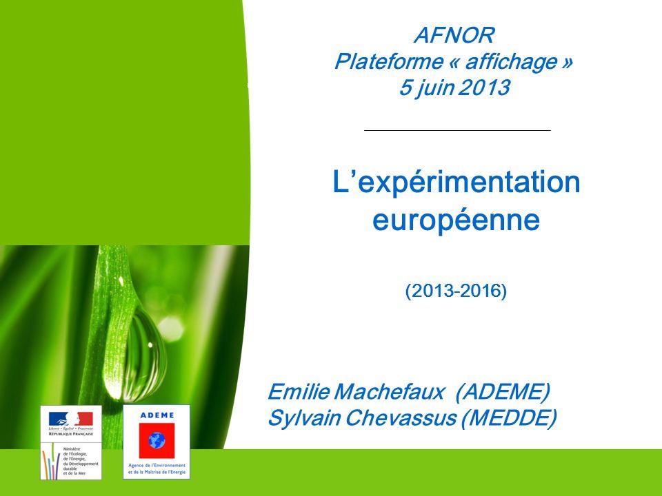 Plateforme « affichage » L'expérimentation européenne