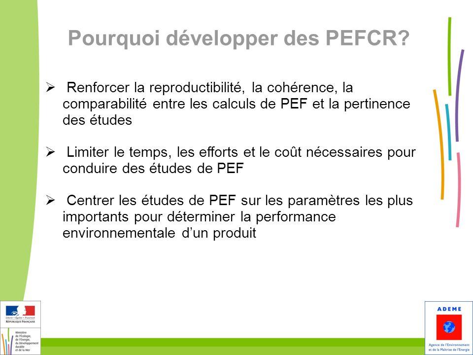 Pourquoi développer des PEFCR