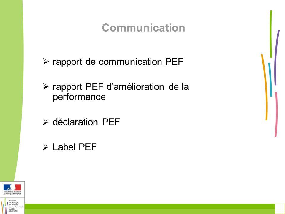 Communication rapport de communication PEF