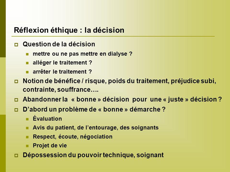 Réflexion éthique : la décision