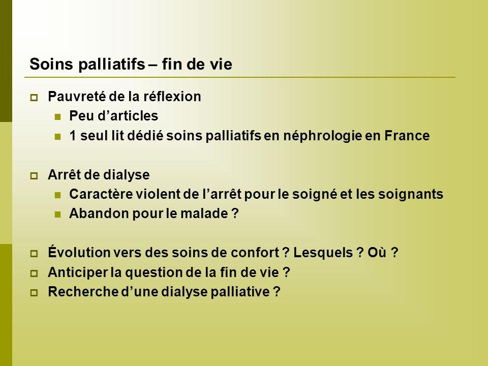 Soins palliatifs – fin de vie