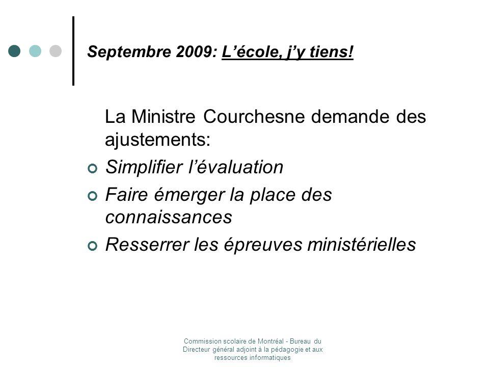 Septembre 2009: L'école, j'y tiens!