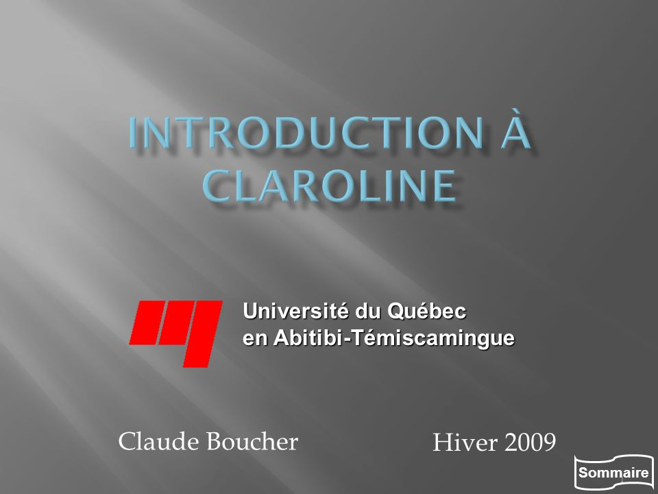 Introduction à Claroline