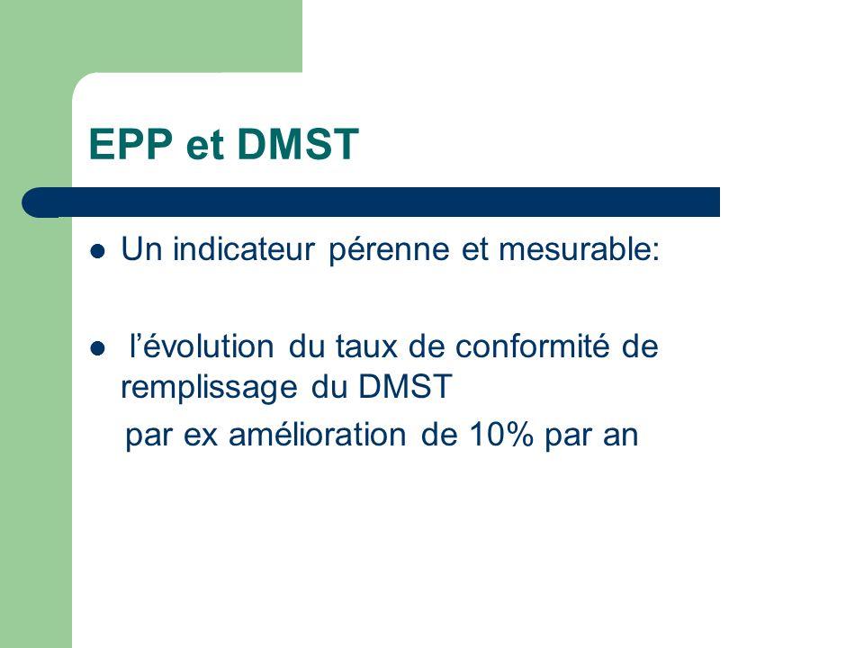 EPP et DMST Un indicateur pérenne et mesurable: