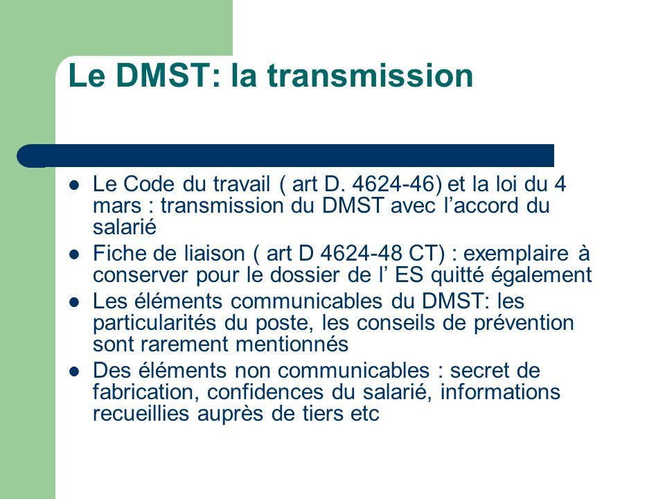 Le DMST: la transmission