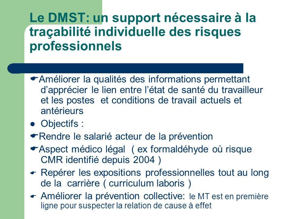 Le DMST: un support nécessaire à la traçabilité individuelle des risques professionnels
