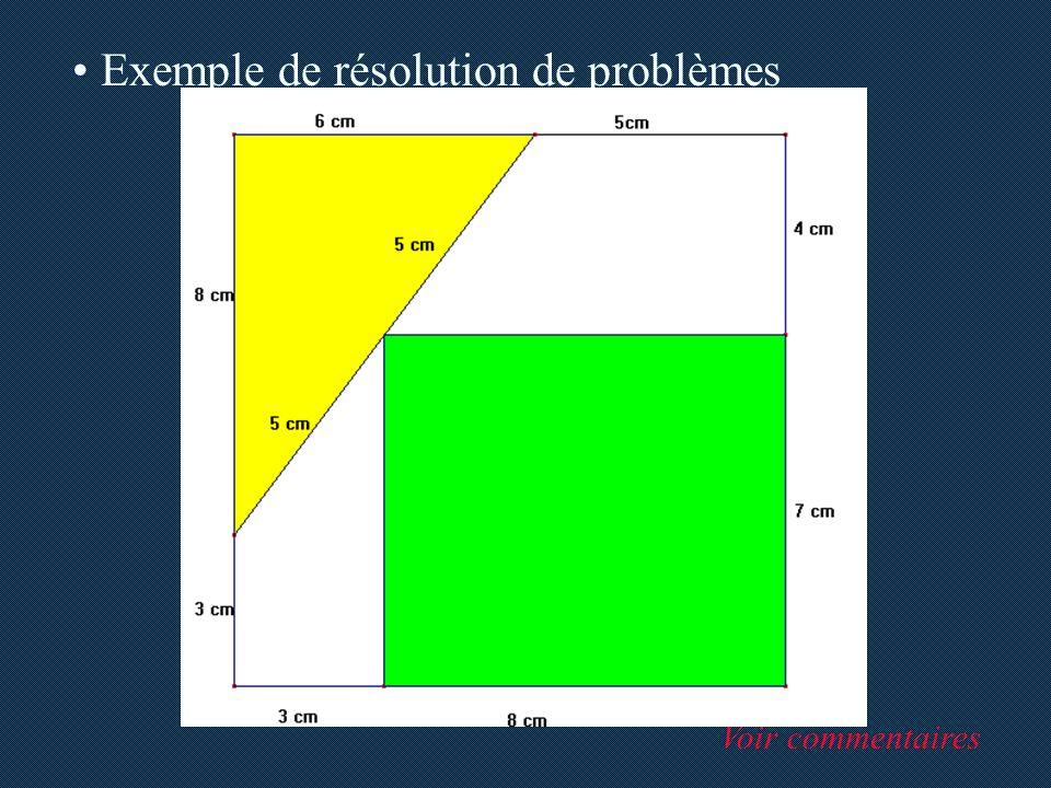 Exemple de résolution de problèmes