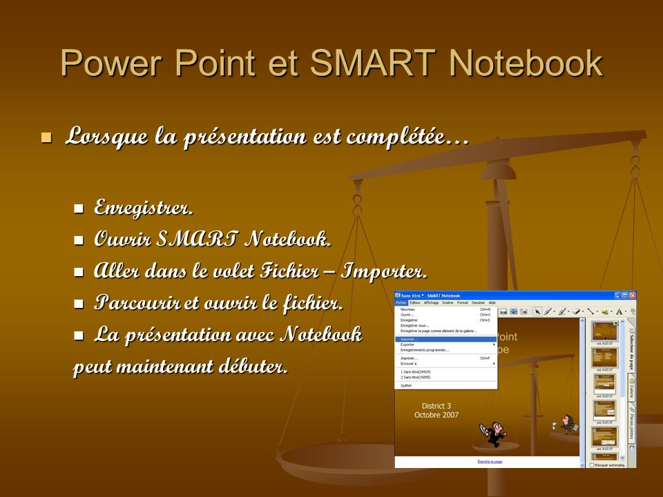 Power Point et SMART Notebook