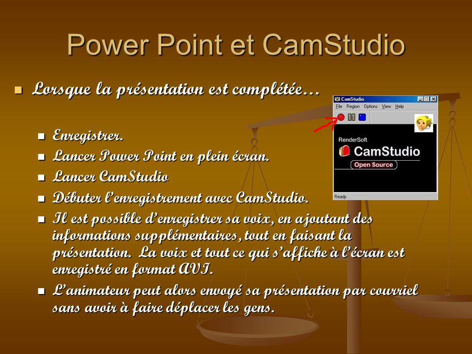 Power Point et CamStudio