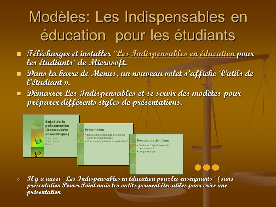 Modèles: Les Indispensables en éducation pour les étudiants