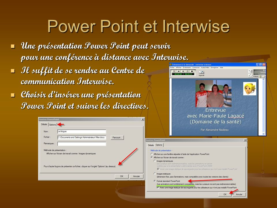 Power Point et Interwise