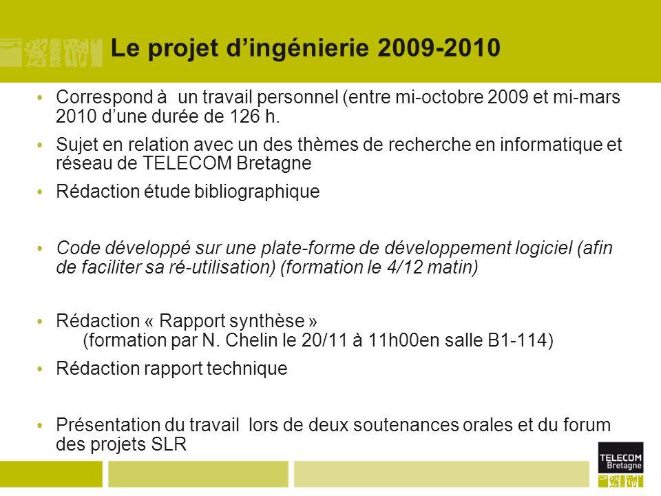 Le projet d'ingénierie 2009-2010