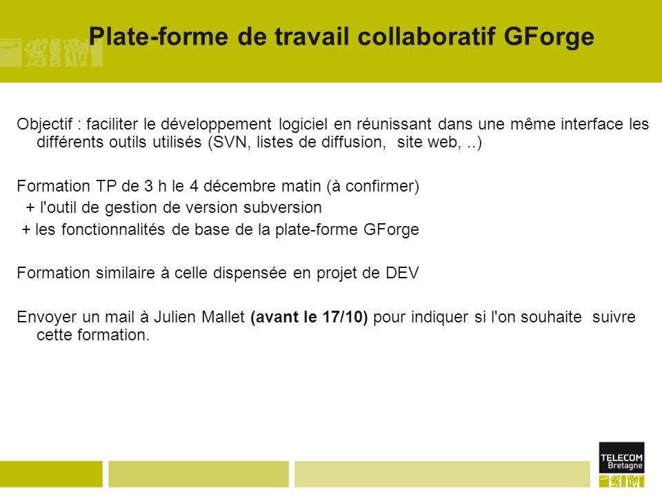 Plate-forme de travail collaboratif GForge