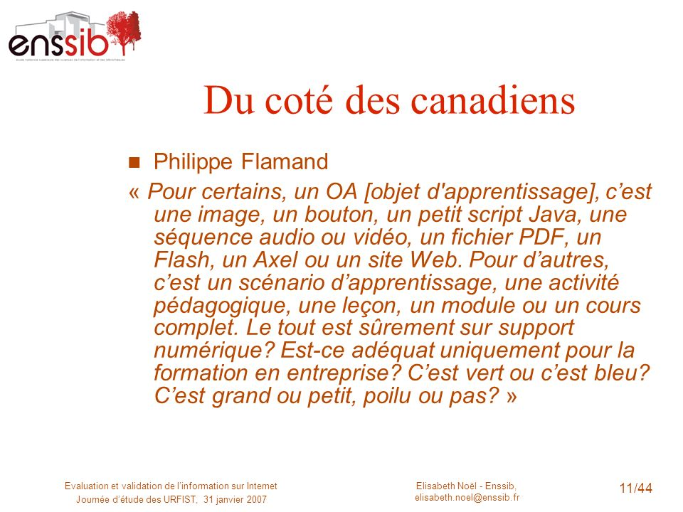 Du coté des canadiens Philippe Flamand