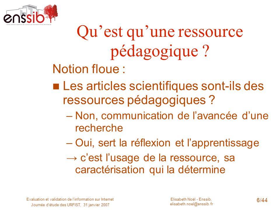 Qu'est qu'une ressource pédagogique