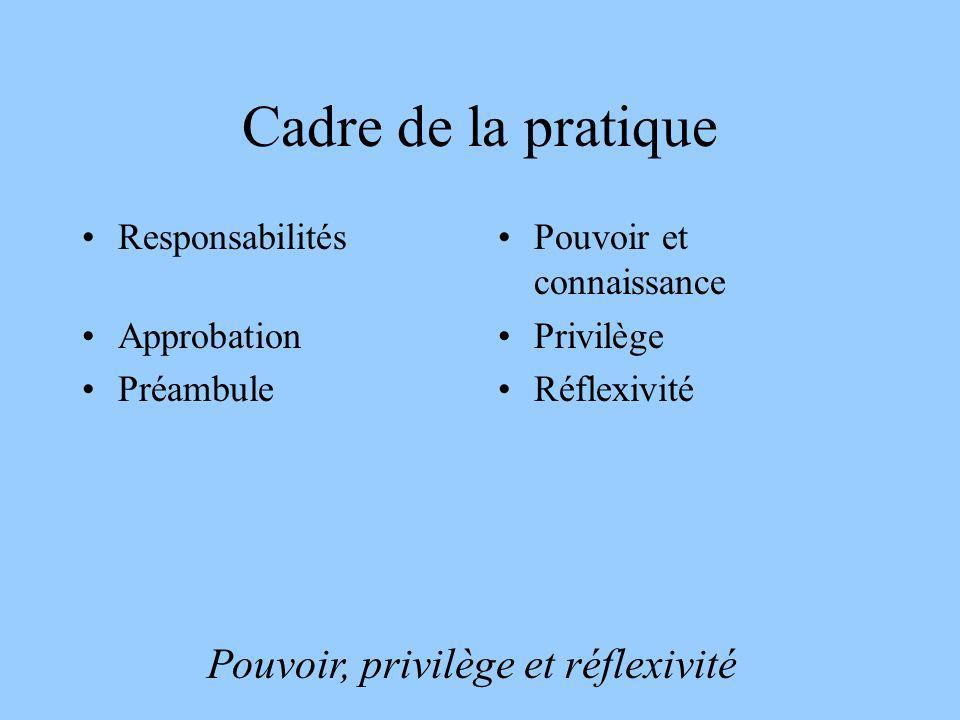 Pouvoir, privilège et réflexivité