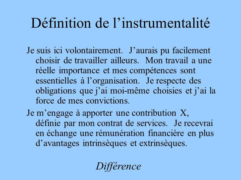 Définition de l'instrumentalité
