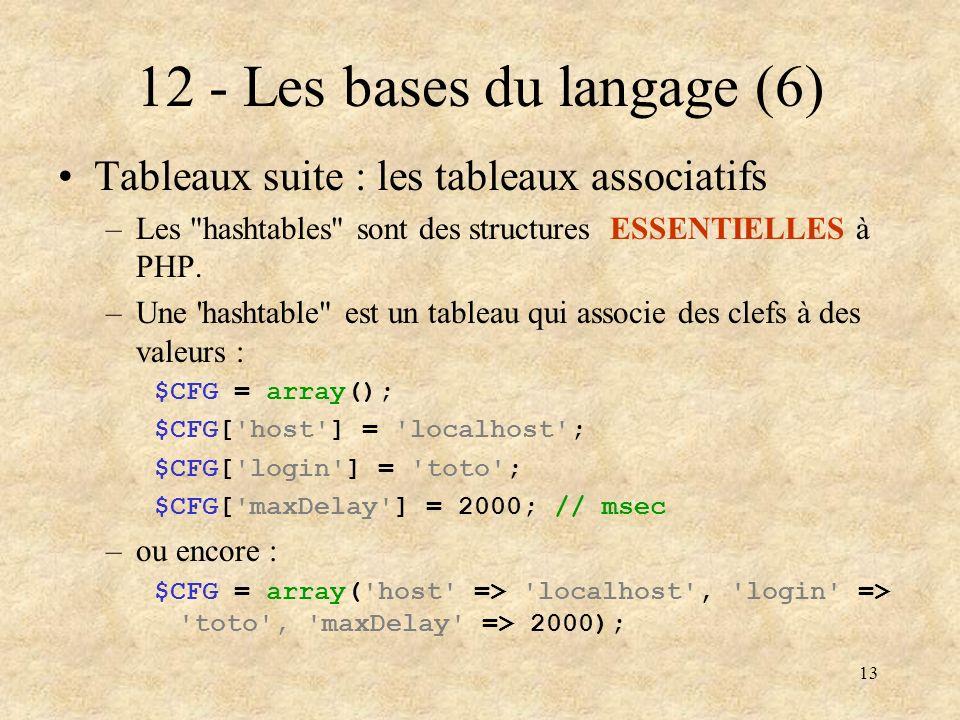 12 - Les bases du langage (6)