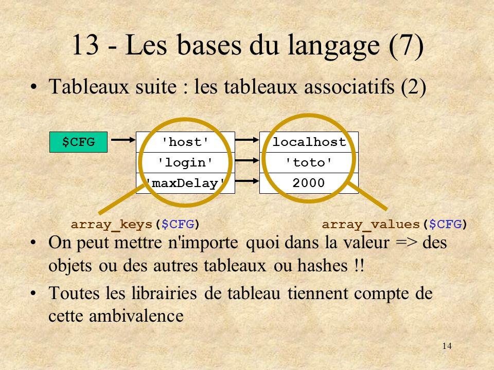 13 - Les bases du langage (7)