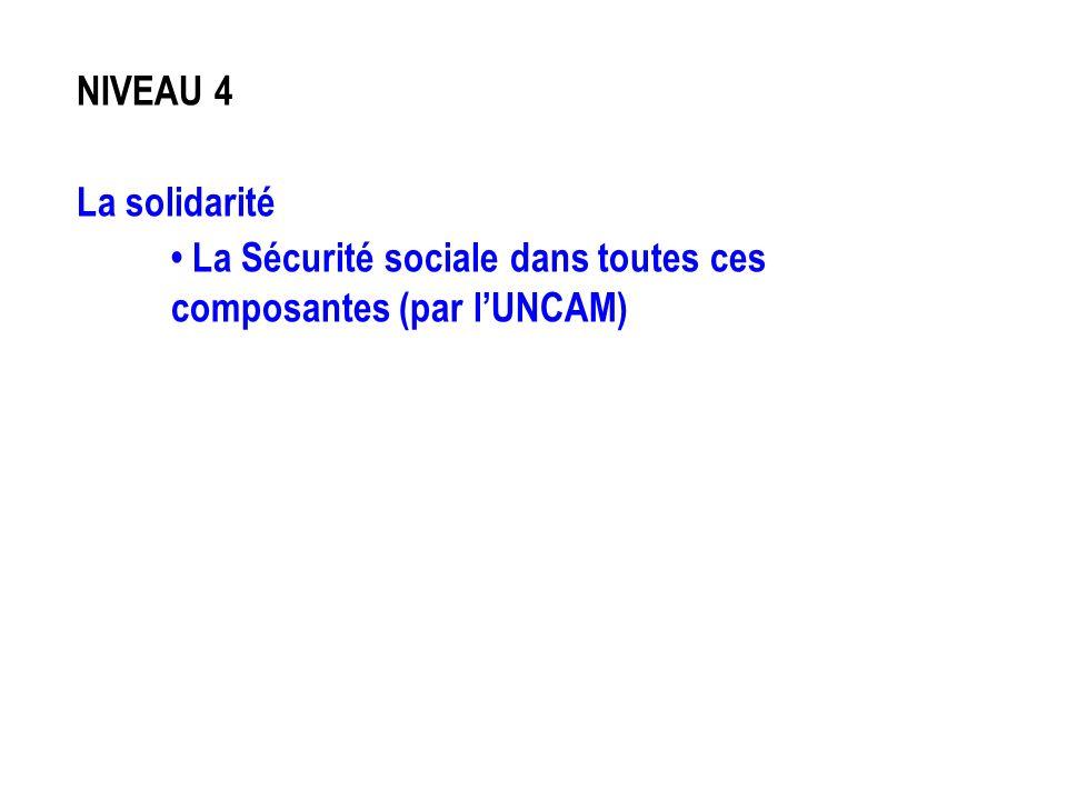 NIVEAU 4 La solidarité • La Sécurité sociale dans toutes ces composantes (par l'UNCAM)