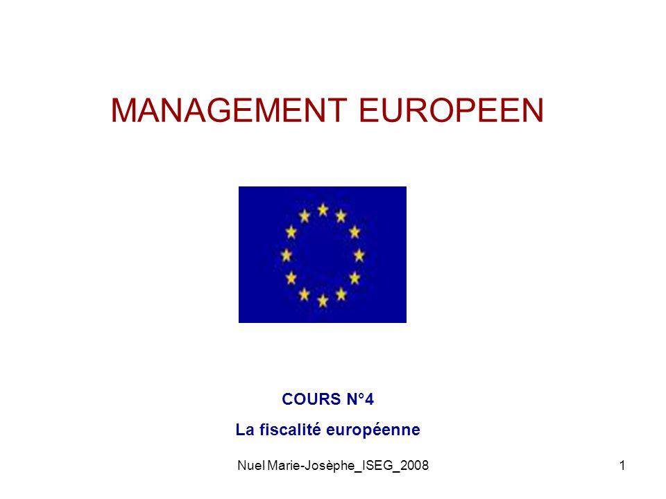La fiscalité européenne