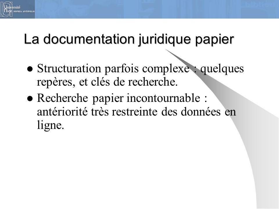 La documentation juridique papier