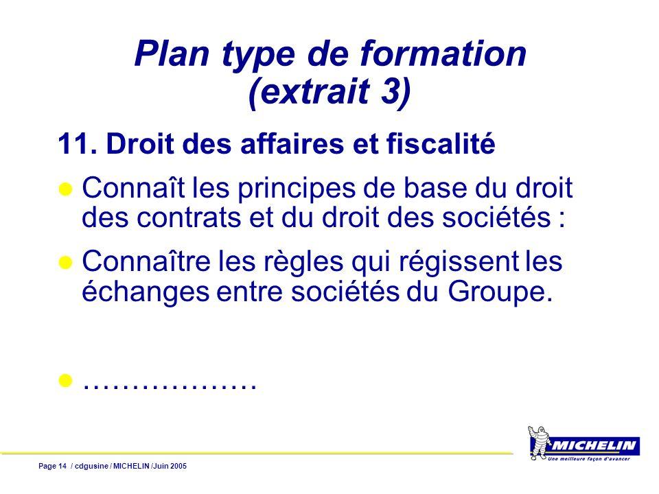 Plan type de formation (extrait 3)