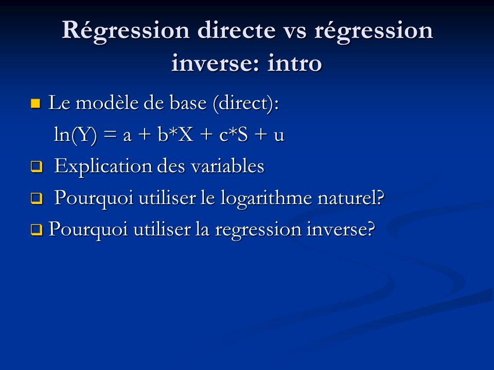 Régression directe vs régression inverse: intro