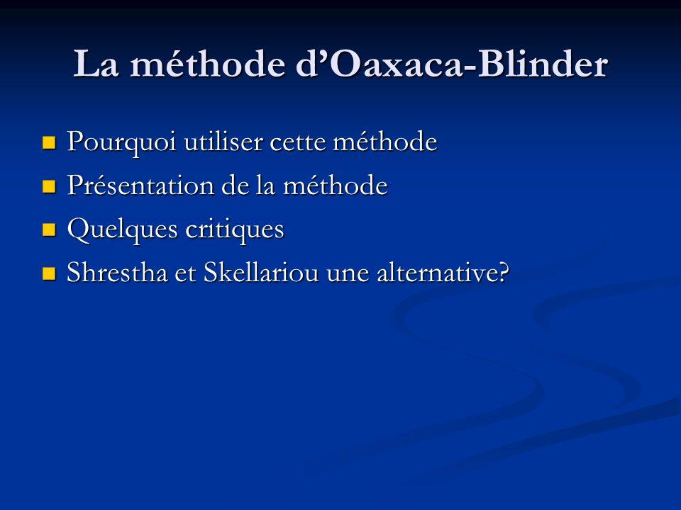 La méthode d'Oaxaca-Blinder