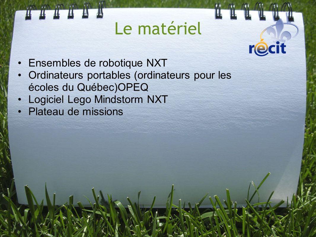 Le matériel Ensembles de robotique NXT