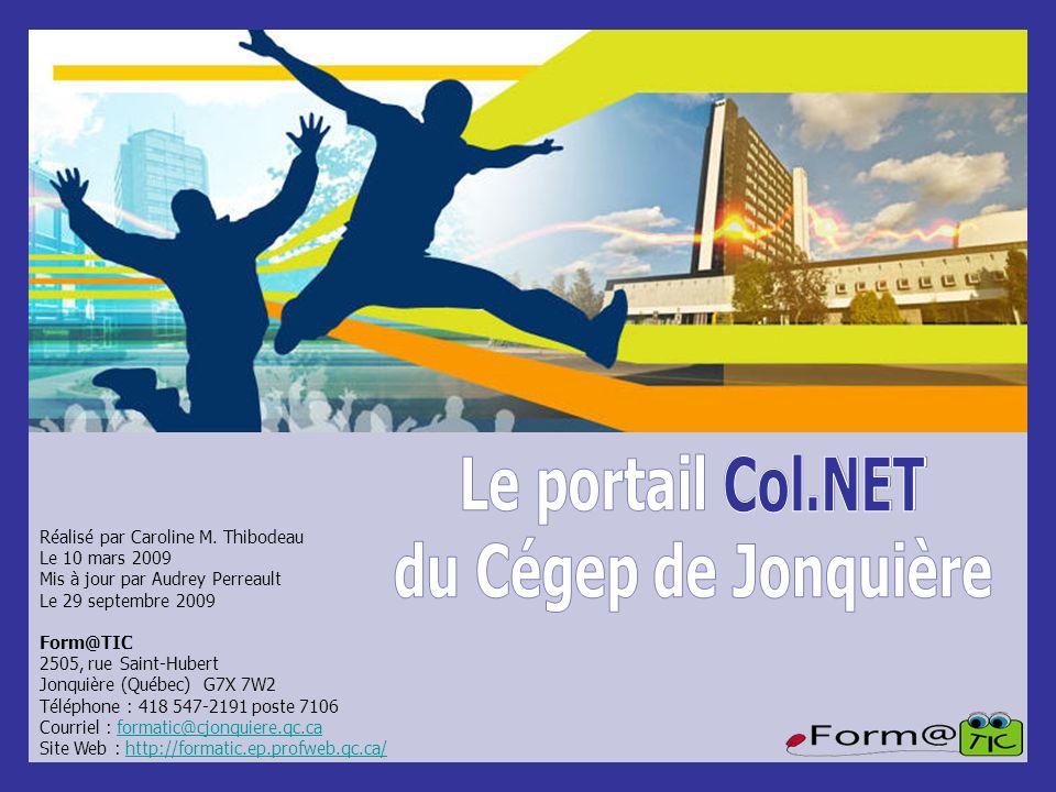 Le portail Col.NET du Cégep de Jonquière Col.NET