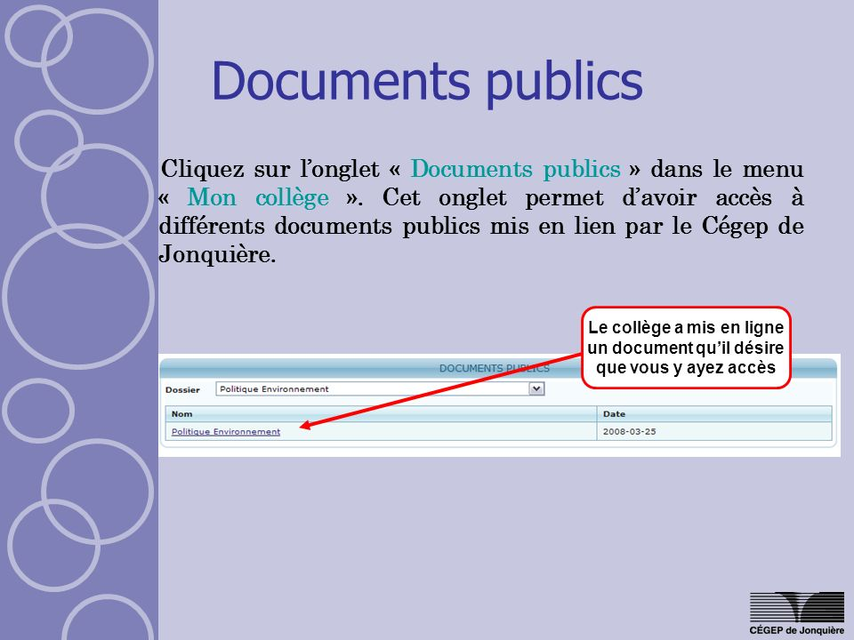 Documents publics