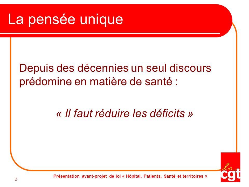 « Il faut réduire les déficits »