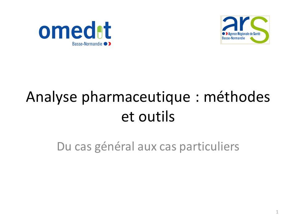 Analyse pharmaceutique : méthodes et outils