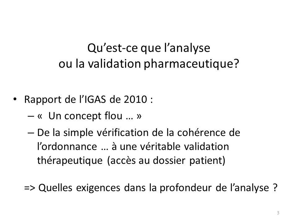 Qu'est-ce que l'analyse ou la validation pharmaceutique