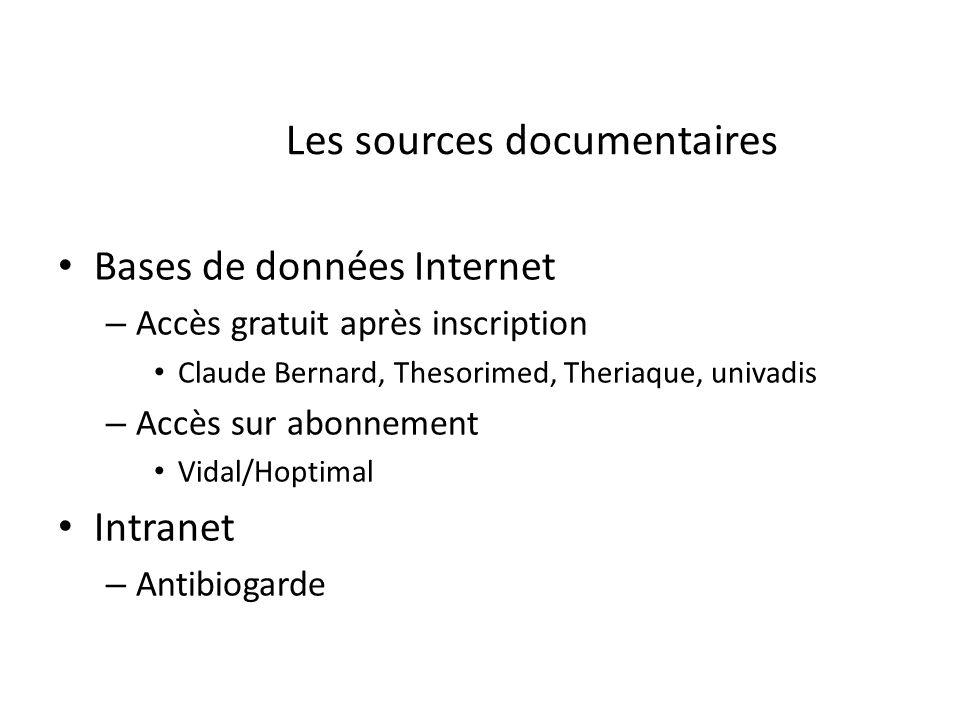 Les sources documentaires
