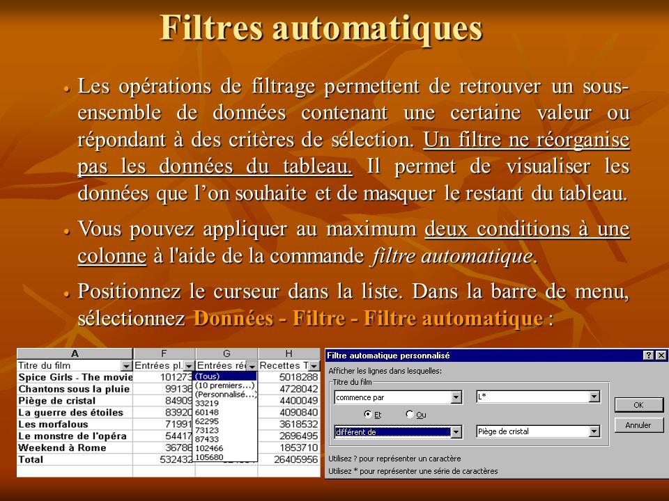 Filtres automatiques