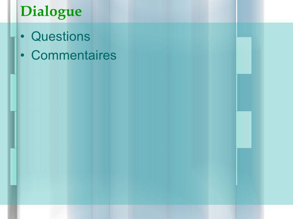 Dialogue Questions Commentaires